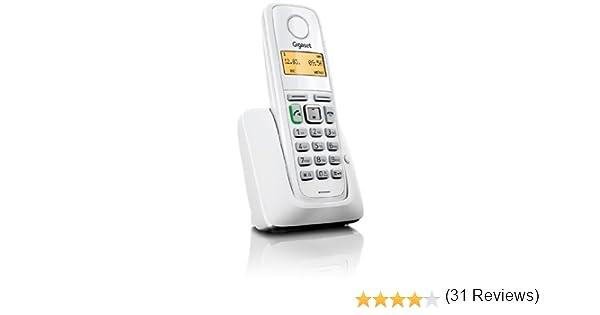 Siemens Gigaset A220 - Teléfono fijo inalámbrico, agenda de hasta 80 contactos, color blanco: Amazon.es: Electrónica