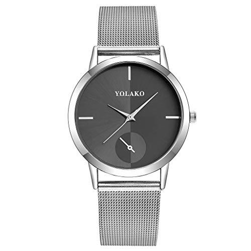 XBKPLO Quartz Watch Women Casual Simple Splice Dial Analog Wrist Watches Ladies Wild Steel Mesh Strap Bracelet Jewelry Gift