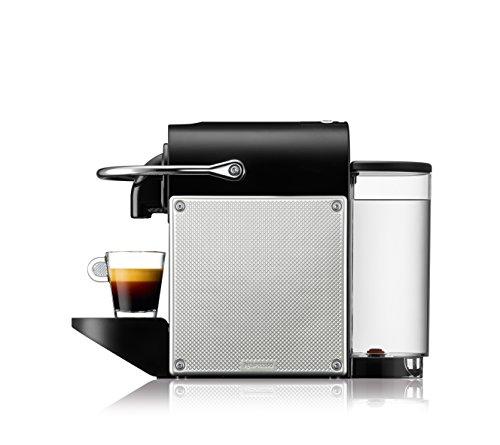 Nespresso DeLonghi Pixie EN125S - Cafetera monodosis de cápsulas Nespresso, 19 bares, apagado automático, color plata
