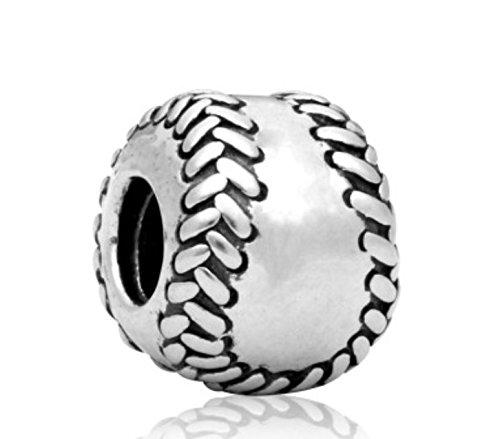 J&M Softball/Baseball Charm Bead for Charms Bracelets