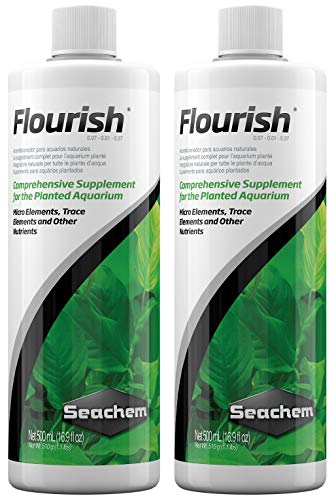 Seachem Flourish, 500 Milliliters each (2 Pack)