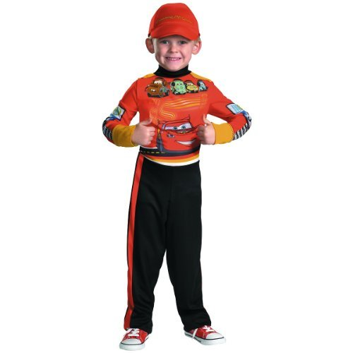 Disney Cars 2 Lightning Mcqueen Pit Crew Classic Boys Costume, Medium/7-8]()
