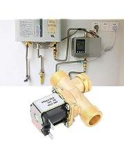 【𝐏𝐚𝐚𝐬-𝐩𝐫𝐨𝐦𝐨𝐭𝐢𝐞𝐦𝐚𝐚𝐧𝐝】 Elektrisch magneetventiel, G1/2 inch, elektromagnetisch magneetventiel van messing, normaal gesloten, waterinlaatschakelaar (DC12 V)