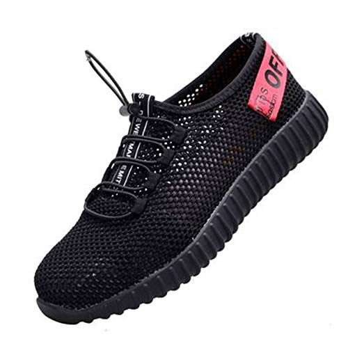 Summer Shoes Footwear Construction Safety Mens Memorygou Industrial Steel Work Toe Black Red Shoes Outdoor Breathable Womens 4O7gwxF7