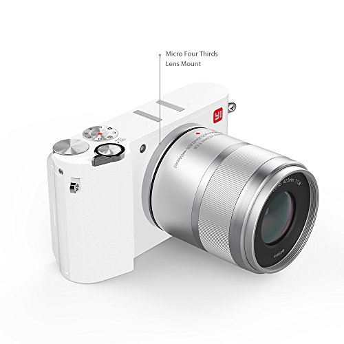 YI M1 4K 20 MP Mirrorless Digital Camera with Interchangeable Lens 12-40mm F3.5-5.6 Lens/42.5mm F1.8 Pearl White