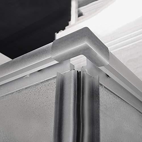 Box Doccia Regolabile Reversibile 71x71cm Vetro 6mm Trasparente