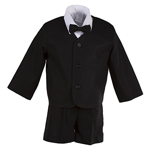 - Boys Black Linen Eton Short Set for Baby and Toddlers (6 to 12 Months)