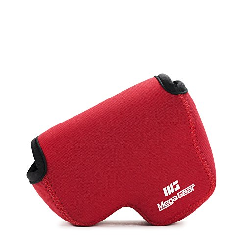 (MegaGear ''Ultra Light'' Neoprene Camera Case Bag with Carabiner for Nikon COOLPIX B500 Digital Camera (Red) )