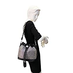 Full Crystal Studded Leather Handbag