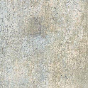Cream and Aqua Crackle Wallpaper