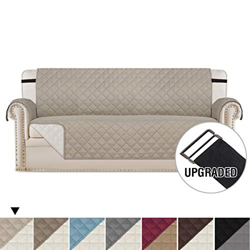 H.VERSAILTEX Premium Reversible Sofa Slipcover, Reversible Quilted Furniture Protector, 2