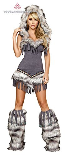 [Roma Costume Native American Temptress Bundle with Pink Shorts] (Temptress Indian Costumes)