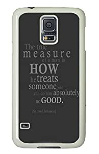 Samsung S5 case case mate Funny the true measure PC White Custom Samsung Galaxy S5 Case Cover
