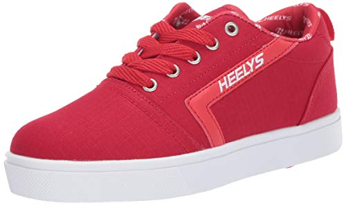 Heely S Skate Shoes - Heelys Boys' GR8 Pro Tennis Shoe, RED/White/RIP Stop, 5 M US Big Kid
