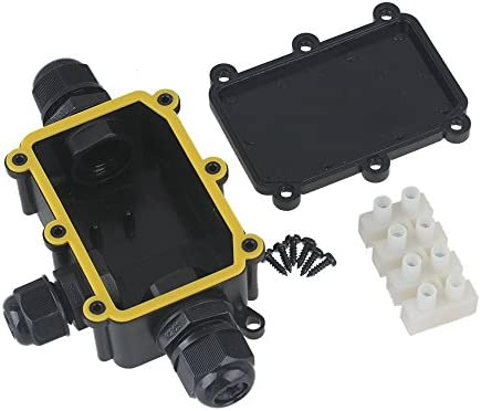 waterproof black ip68 plastic cable wire connector gland electrical rh amazon com Residential Wiring Junction Box Telephone Junction Box Wiring Diagram
