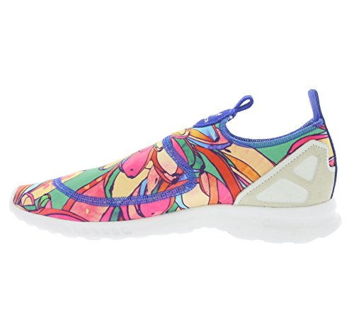 Adidas Originals Womens Zx Flux Adv Scivolare Liscio Sul Trainer Da Laboratorio Us8.5 Blu