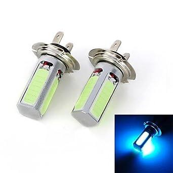 H7 Car Blue 24W High Performance LED 7000-7500 Reversing lamp Fog Light Turn Signal Light Brake Light ( Light Source Color : Blue )