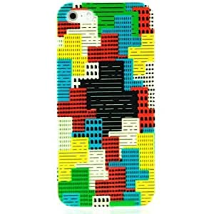 WEV Colorful Puzzle Pattern Hard Case for iPhone 5/5S