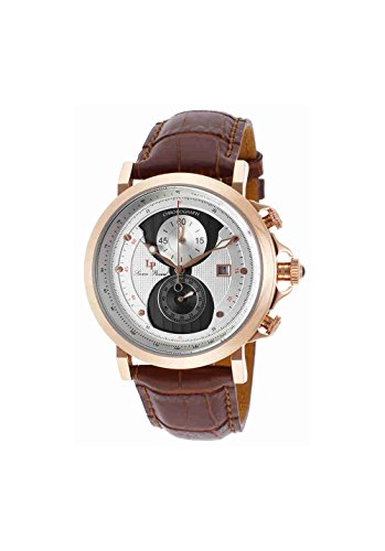 Lucien Chrono Piccard (Lucien Piccard Men's 40015-RG-02S-BRW Pegasus Analog Display Quartz Brown Watch)
