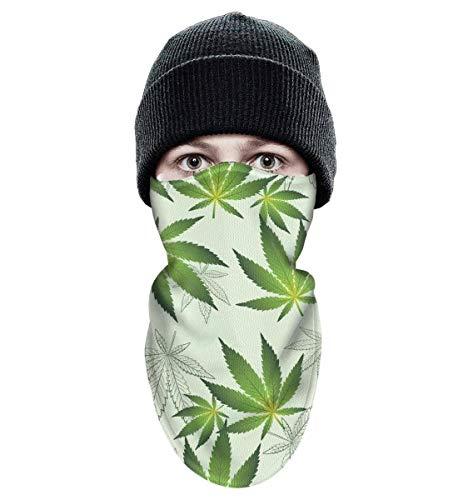 - srygjukuu Tough Headwear Cannabis Funny Leaves Wind-Resistant Winter Ski Face Mask for Motorcycling Cycling Bike Bandana Hiking Skateboard Skiing