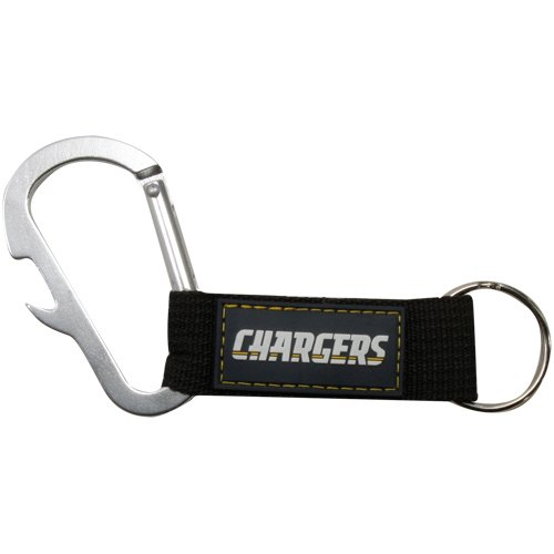 NFL San Diego Chargers Carabineer Keychain, Blue, One Size (Chargers Ring San Diego Key)