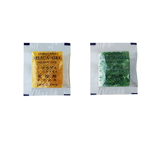 Price comparison product image Dry & Dry [200 Packs] 1 Gram Orange Premium Indicating(Orange to Dark Green) Silica Gel Packets - Rechargeable