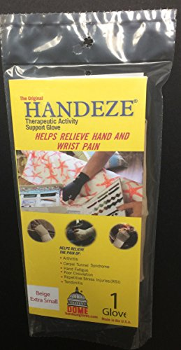 Handeze Therapeutic Glove, Extra Small, Size 2, Beige, Single ()