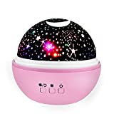 Christmas Birthday Presents Gifts for 4-5 Year Old Girls, Easony Romantic Rotating Star Light Projector for Kids Christmas Birthday Gifts for 2-10 Year Old Girls Halloween Pink ESUKXQ04