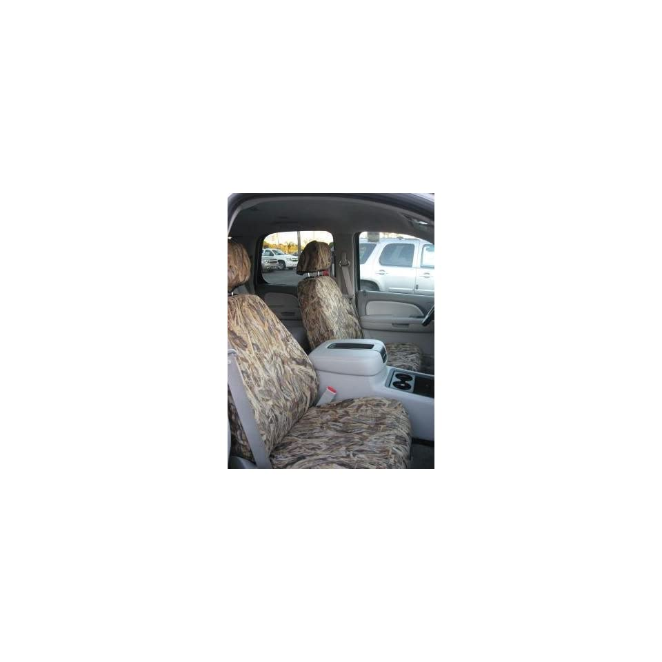 Exact Seat Covers, C1123 SA C, 2007 2011 Chevy Silverado, Tahoe and GMC Sierra Front Bucket Seat Covers, Savanna Camo Endura