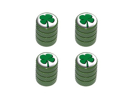 Four Leaf Clover - Tire Rim Valve Stem Caps - - Rim Leaf Green