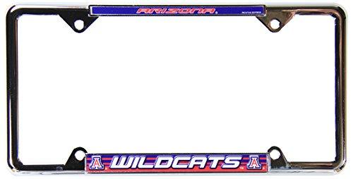 (Rico Industries NCAA Arizona Wildcats Standard Chrome License Plate Frame)