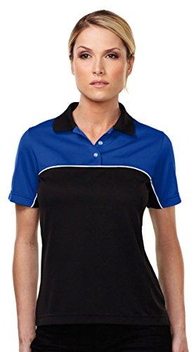 - Tri-Mountain Double-Clutch Wicking Mesh Polo Shirt, XS, ROYAL/BLACK