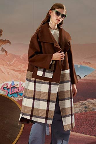 Long Couture S Épais Voyage D'hiver Femme Veste Vent Plaid Dwyj 35RqAjL4