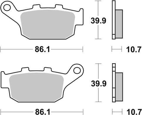 Triumph TT 600 00 01 02 03 SBS Performance Rear Ceramic Brake Pads Set Genuine OE Quality 614HF