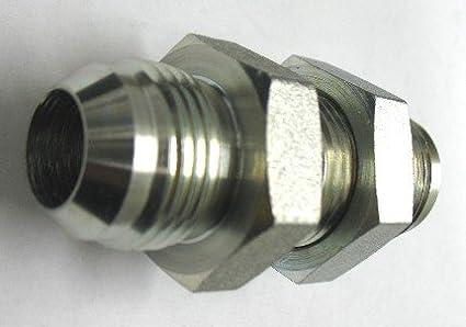 AF C5924-04 7//16/'/'-20 NF 1//4 Female JIC Bulkhead Locknut 8 Pack