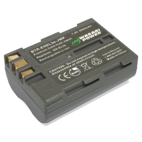 Kinamax 2000mAh EN-EL3e Replacement Battery for Nikon D50, D70, D80, D90, D100, D200, D300, D700 - Premium Japanese Cells