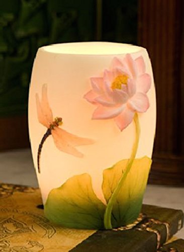 Dragonfly & Waterlily Night Lamp by Ibis & Orchid