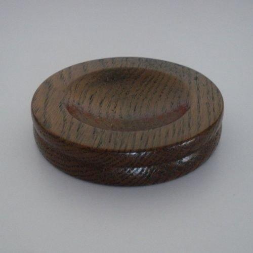 bangdan Wood Piano Caster Cups, 1pcs Dark Oak Satin