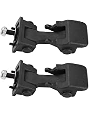 ABS Hood Cover Latches Catch Replacement for Jeep Wrangler TJ 1997-2006 Engine Hood (Black, 2 Pack)