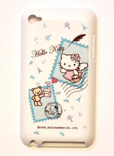 Apple iPod Touch 4th Generation iTouch 4 4G Sanrio Licensed Original HELLO KITTY (cute stamps) Soft SILICONE TPU Protector Case Cover + Free WirelessGeeks247 Metallic Detachable Touch Screen STYLUS PEN with Anti Dust Plug