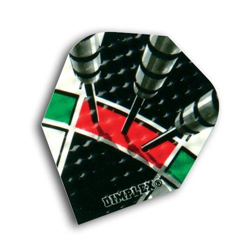 F6038 Treble 20 Dimplex Dart Flights 4 sets per pack (12 flights in total) by Red Dragon Darts (Treble Board)