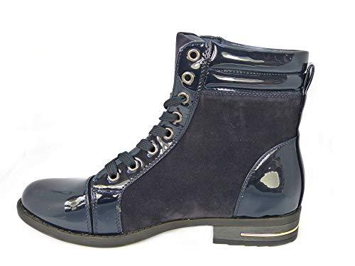 Riding Blue 8 7 4 3 Ladies Calf Ankle Combat Chelsea 6 Cowboy UP Skos Zip Lace Flat Size Biker Biker 5 130481501 Boots Boots Distressed Mid Worker Cuban Womens ptqxwF