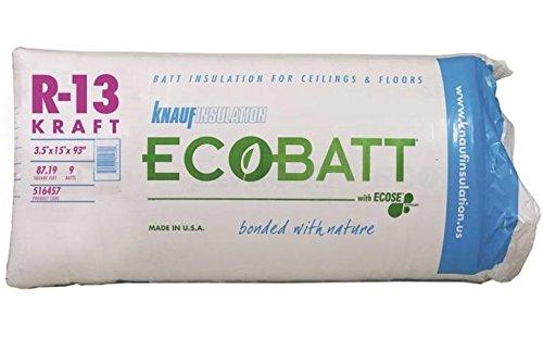 Knauf Insulation - GUARDIAN BUILDING PROD INSULATION R13K 3-1/2X15INBATT PR118 per BAG 9