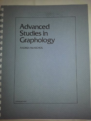 Advanced Studies in Graphology