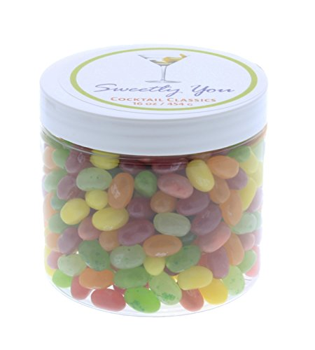 Jelly Belly 1 LB Cocktail Mix Flavored Assorted Beans. (One Pound, 1 Pound) Bulk Jelly Beans in a resealable and reusable jar. (Gourmet Jelly Bean Jar)
