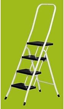 Vervi - Escalera B/Alta Homologado Tubo Blanco 4-P: Amazon.es: Bricolaje y herramientas