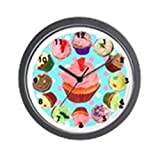 CafePress – Polka Dot Cupcake Wall Clock – Unique Decorative 10″ Wall Clock