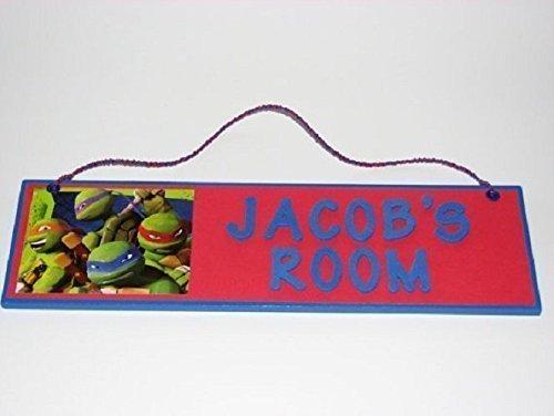 (Teenage Mutant Ninja Turtles Room Name Wall Sign - Personalized Ninja Turtles Boys Room Decor - Teenage Mutant Ninja Turtles Customized Name)