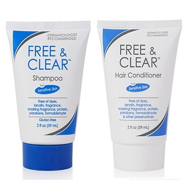 Free & Clear Shampoo and Conditioner, 2 Ounce Travel ()