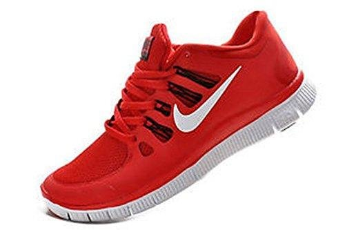 Nike Men's Free 5.0+ Breathe Running Red Synthetic Shoe - 13 D(M) US (Nike Free 50)